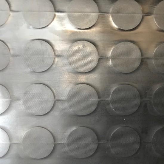 BG Gumená v rolkách s peniažkovým vzorom Čierna 5mm