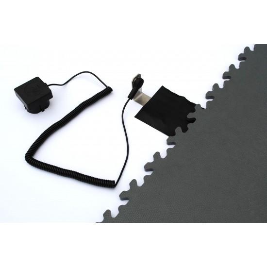 FL ESD Heavy Duty Leather Grey 7 mm