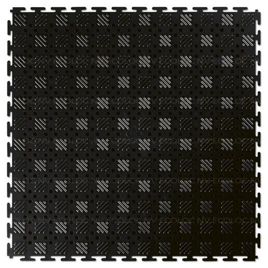 EL Lock Mat Open Recycled Black 14mm