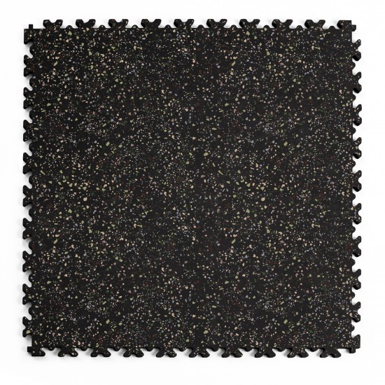 FL Heavy Duty Leather Granit 05 ECO Black 7 mm