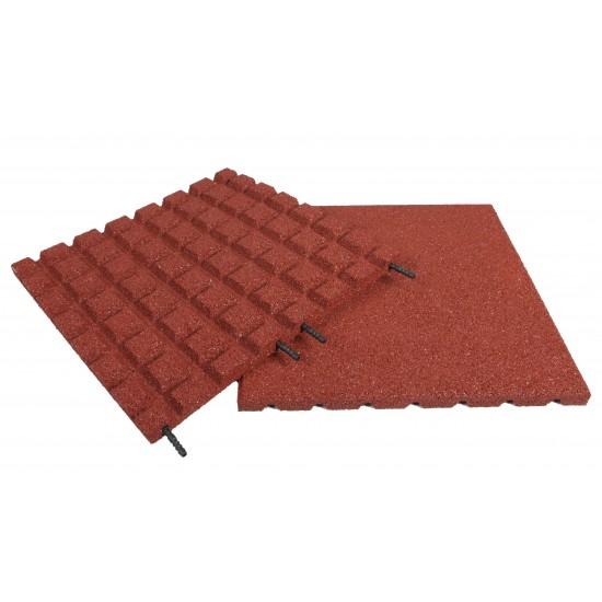 RE Gumová doska large Red 40mm 28 raster