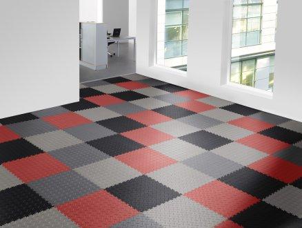 oštýlová gumená podlaha